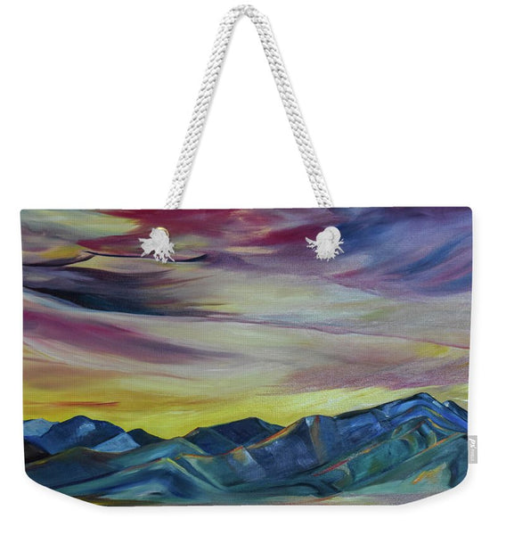 Bridger Mountains, Sunise - Weekender Tote Bag