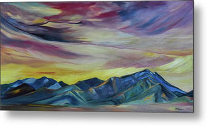 Bridger Mountains, Sunise - Metal Print
