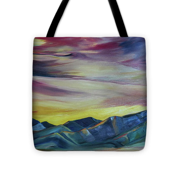 Bridger Mountains, Sunise - Tote Bag