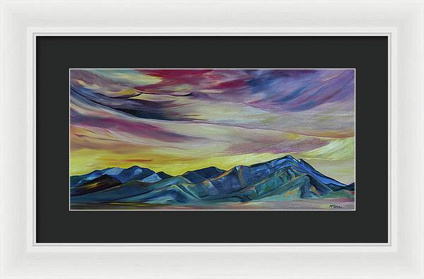 Bridger Mountains, Sunise - Framed Print