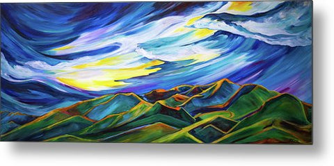 Bridger Ridge - Metal Print