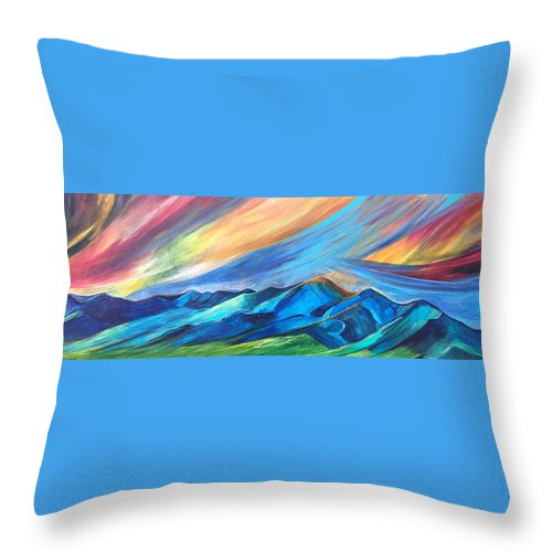 Bridger Sunset - Throw Pillow
