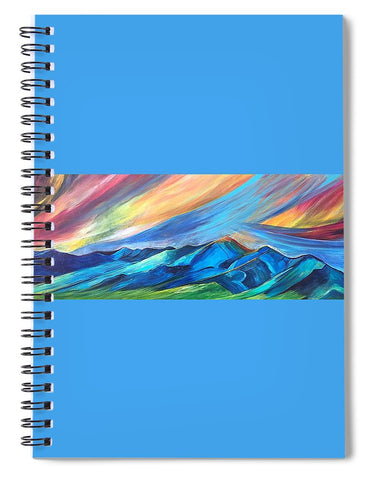 Bridger Sunset - Spiral Notebook