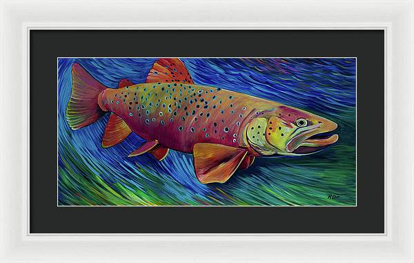 Brown Trout - Framed Print