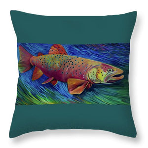 Brown Trout - Throw Pillow