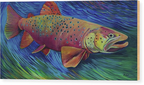 Brown Trout - Wood Print