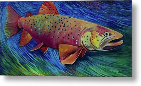 Brown Trout - Metal Print
