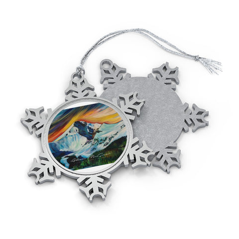 Lone Peak: Pewter Snowflake Ornament