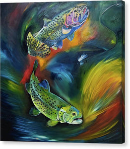 Dancing Trout - Canvas Print