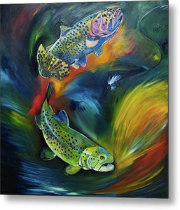 Dancing Trout - Greeting Card