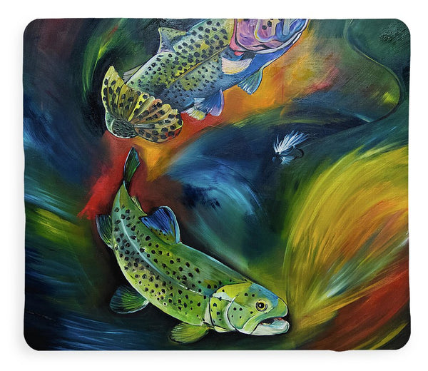 Dancing Trout - Blanket