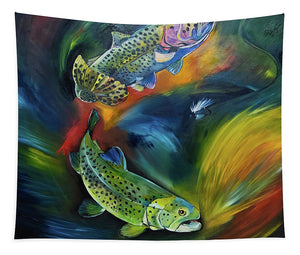Dancing Trout - Tapestry