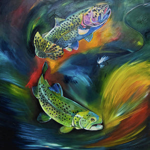 Dancing Trout - Art Print