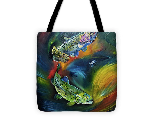 Dancing Trout - Tote Bag