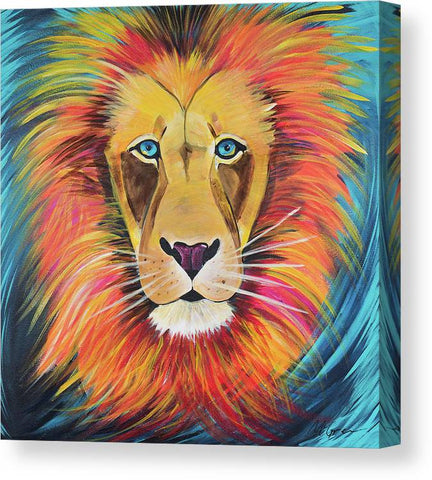 Fierce Lion - Canvas Print