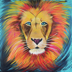 Fierce Lion - Art Print
