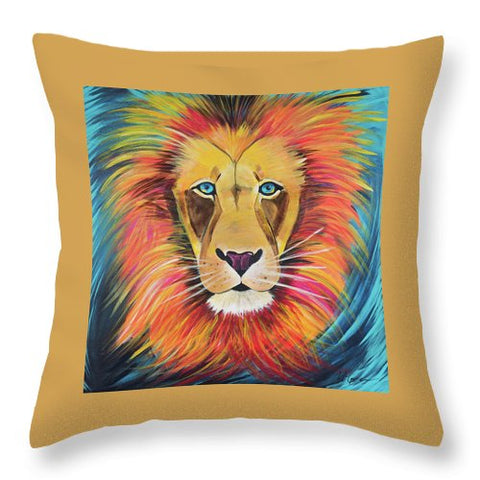 Fierce Lion - Throw Pillow