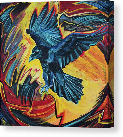 Fierce Raven - Canvas Print