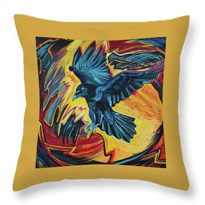 Fierce Raven - Throw Pillow