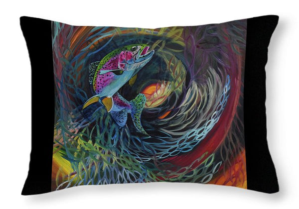 Fish Dance - Throw Pillow