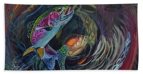 Fish Dance - Beach Towel