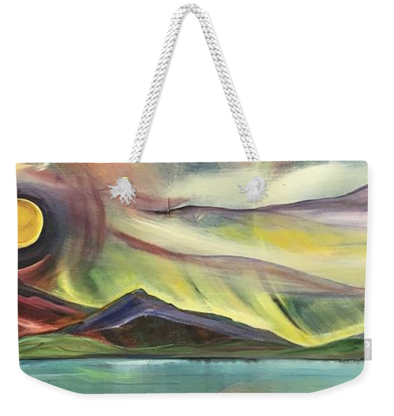 Full Montana Moon - Weekender Tote Bag