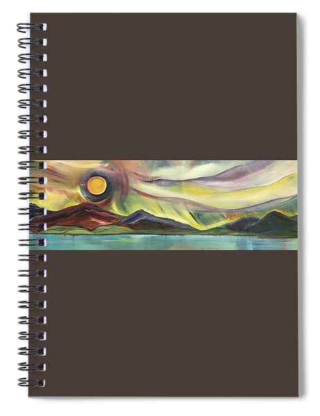 Full Montana Moon - Spiral Notebook
