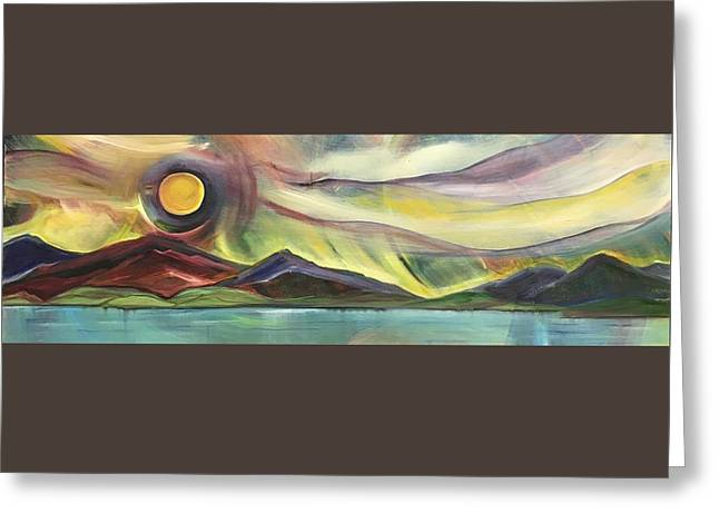 Full Montana Moon - Greeting Card