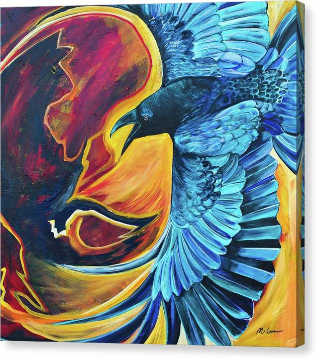 Huginn-Thought - Canvas Print
