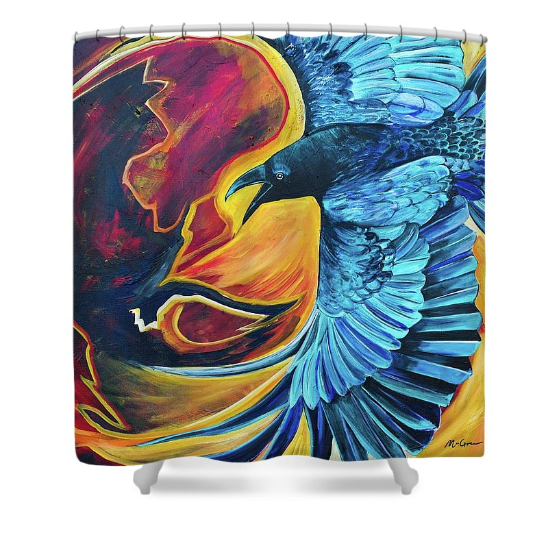 Huginn-Thought - Shower Curtain