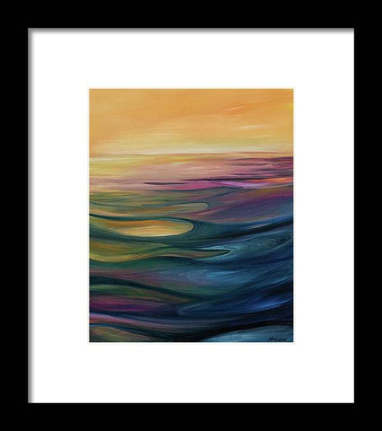 Lake Sunset - Framed Print