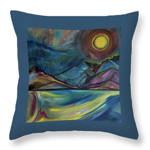 Layered Landscape Mountains 2 - Throw Pillow