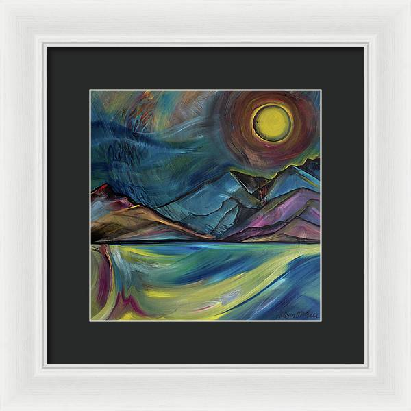Layered Landscape Mountains 2 - Framed Print