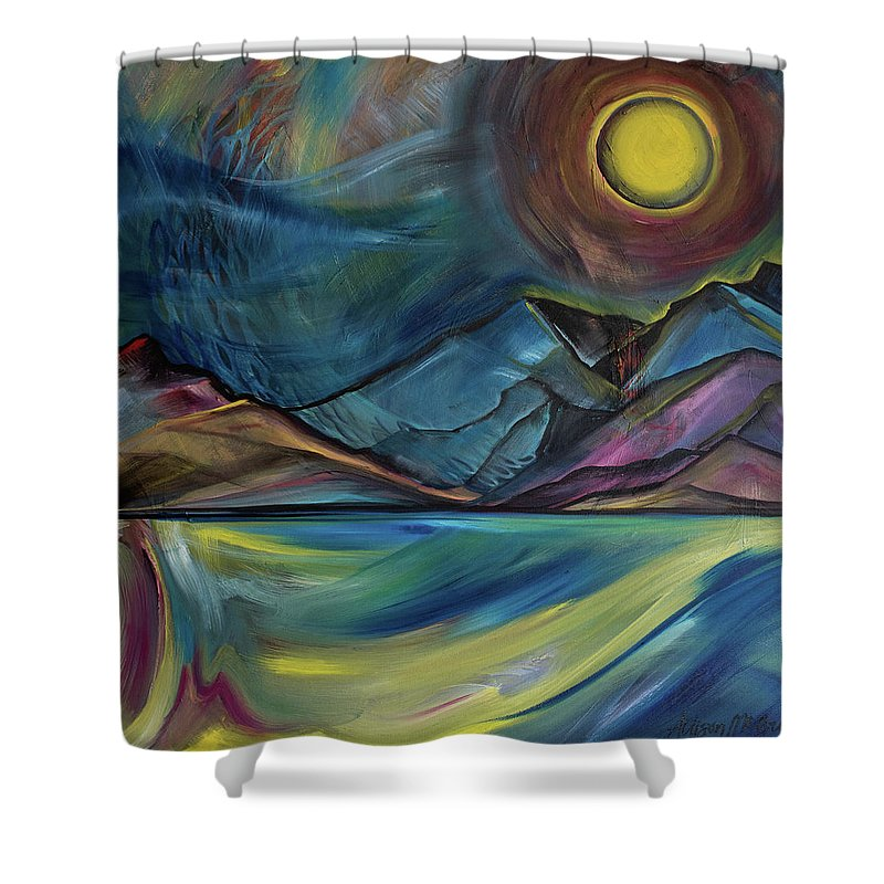 Layered Landscape Mountains 2 - Shower Curtain
