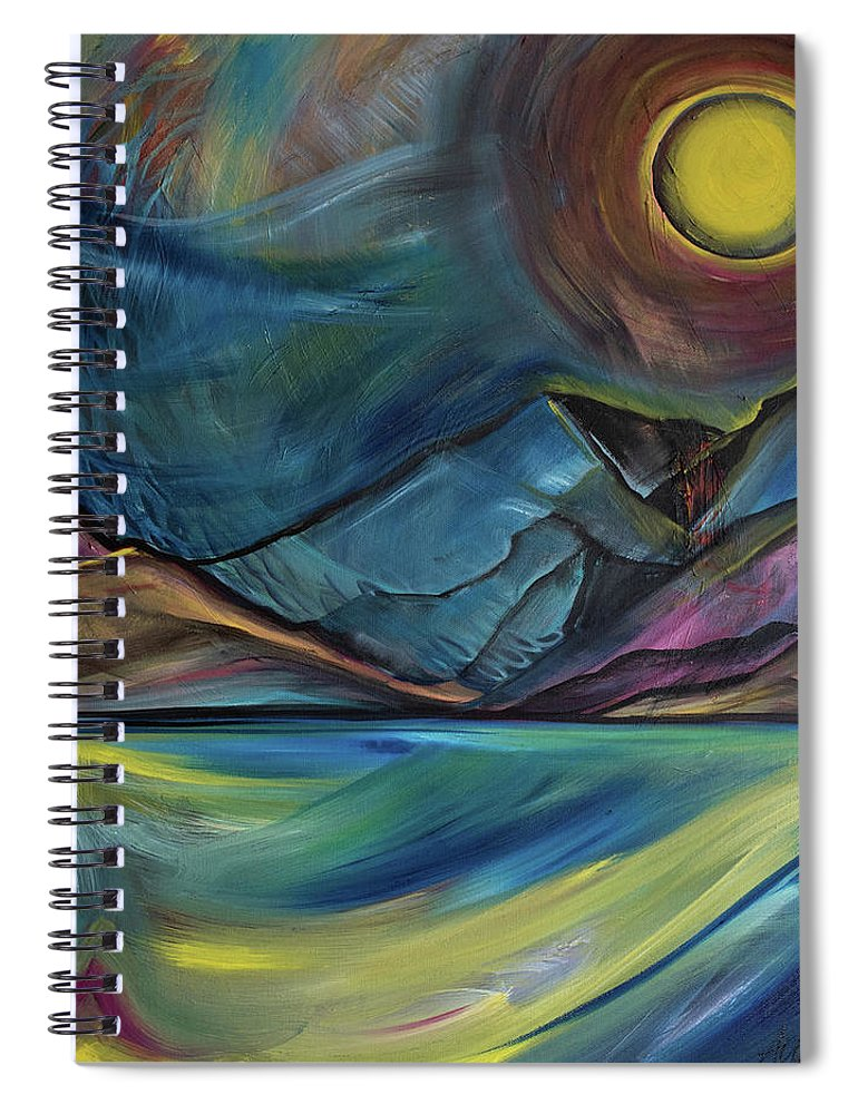 Layered Landscape Mountains 2 - Spiral Notebook