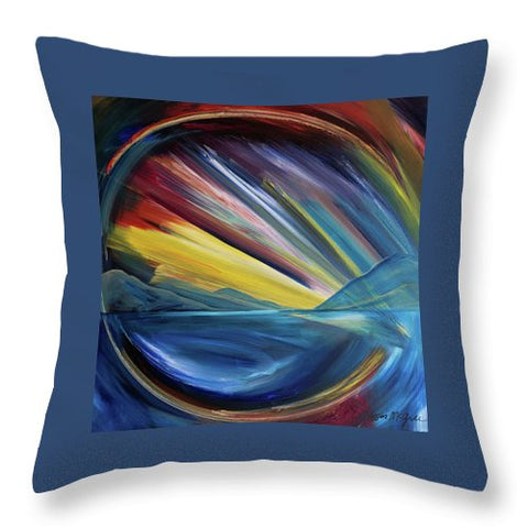 Layered Landscape Mountains 4 - Throw Pillow