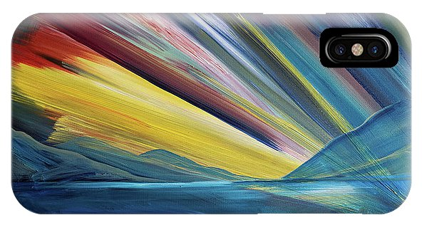 Layered Landscape Mountains 4 - Phone Case