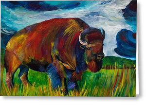 Montana Bison - Greeting Card