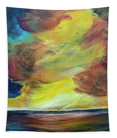 Montana Lake Storm - Tapestry