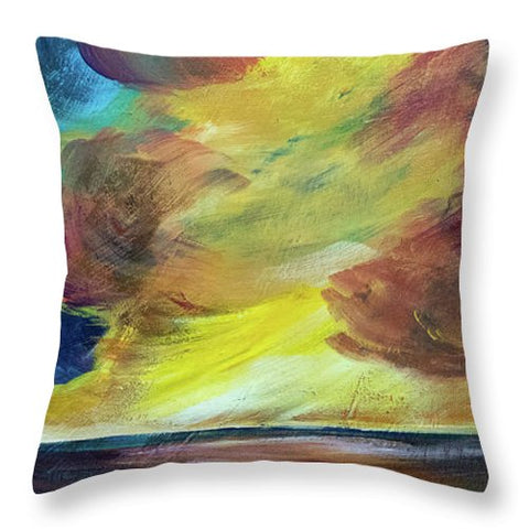 Montana Lake Storm - Throw Pillow