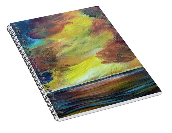 Montana Lake Storm - Spiral Notebook