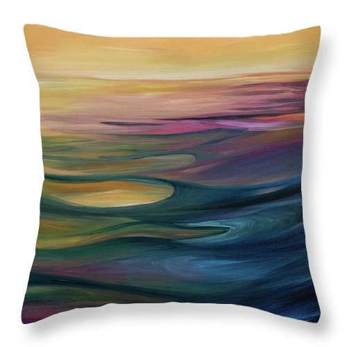 Montana Lake Sunset - Throw Pillow
