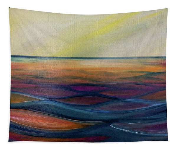 Montana Lake Sunset - Tapestry