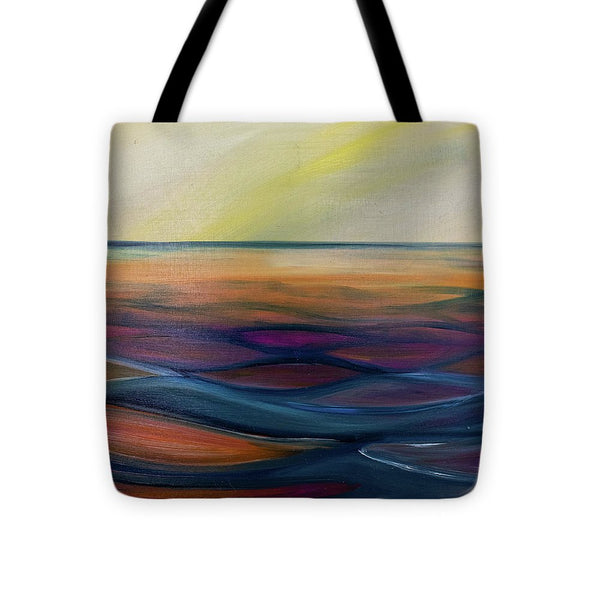 Montana Lake Sunset - Tote Bag