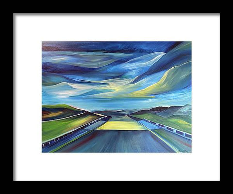 Montana Roads - Framed Print