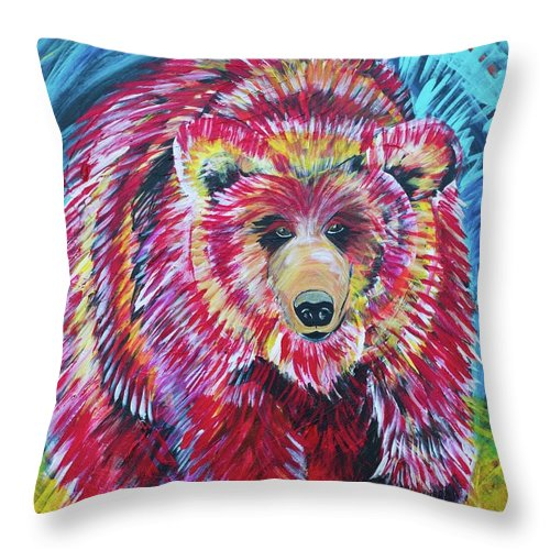 Odin-Grizzly - Throw Pillow