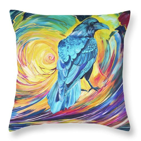 Odin's Messenger - Throw Pillow