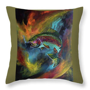 Rage Fish - Throw Pillow