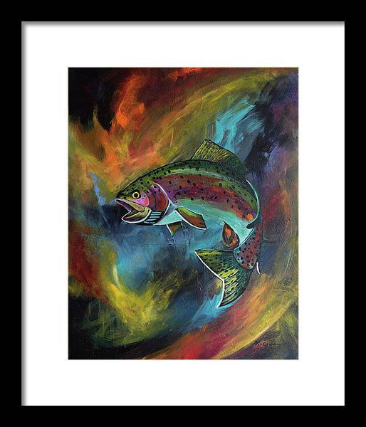 Rage Fish - Framed Print
