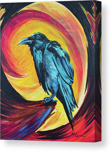 Raven in Wait - Canvas Print